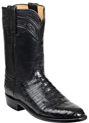Lucchese Wilson GY3003.R9 Mens Black Ultra Belly Caimain Crocodile Boots