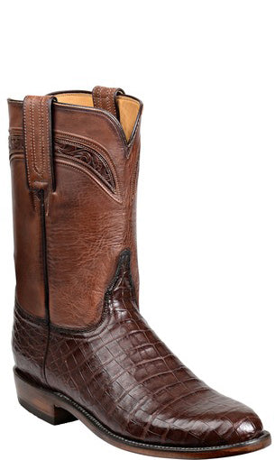 Lucchese Wilson GY3004.R9 Mens Sienna Ultra Belly Caimain Crocodile Boots