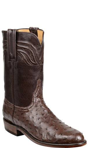 Lucchese Augustus Mens Sienna Full Quill Ostrich Roper Boots GY3007 Classics