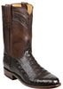 Lucchese GY3010 WILSON Mens Chocolate Ultra Belly Caiman Crocodile Boots