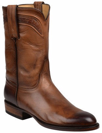 DISCONTINUED-Lucchese GY3501.R9 SUMTER Mens Dark Brown Royal Calfskin Boots