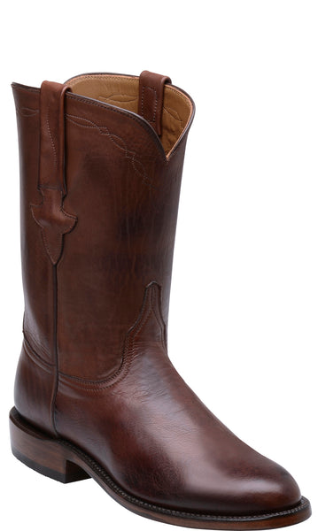 Lucchese Bannock Mens Pecan Burnished Jersey Calfskin Roper Boots GY3504.RR Classics