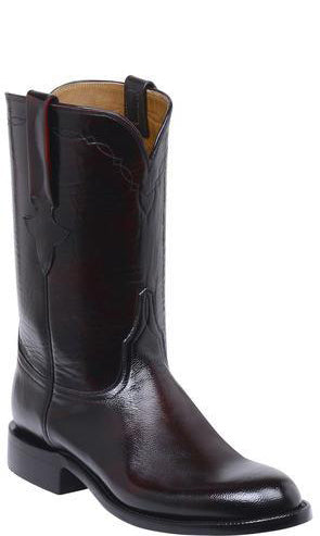 Lucchese Bannock GY3506.RR Mens Black Cherry Goat Boots