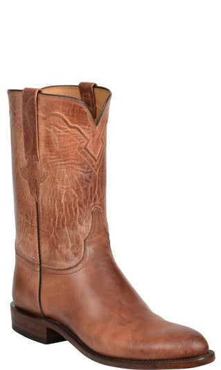 Lucchese Tanner GY3510 Mens Tan Burnished Mad Dog Goat Boots