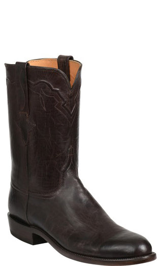 Lucchese GY3512 TANNER Mens Chocolate Burnished Mad Dog Goat Boots