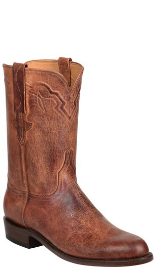 Lucchese Tanner GY3513 Mens Peanut Brittle Burnished Mad Dog Goat Boots