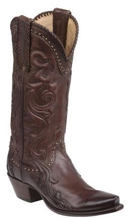 Lucchese Saratoga GY4500.S54 Womens Whiskey Burnished Baby Buffalo Boots