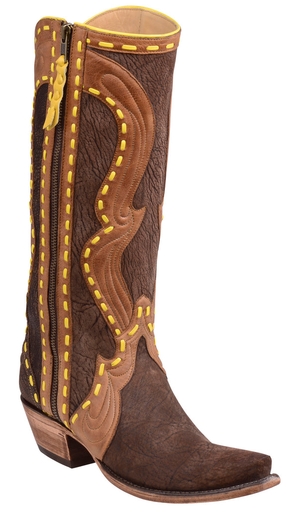 Lucchese HART GY4502.S54 Chocolate Marsh Goat Triad Womens Boots