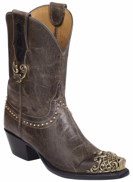 Lucchese GY4509.S54 CODY Womens Grey Charcoal Burnished Mad Dog Goat Boots