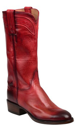 Lucchese GY4514.88 BLISS Womens Red Royal Calfskin Boots