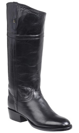 Lucchese GY4515.88 Riley Black Calfskin English Rider Womens Boots