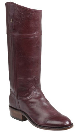 Lucchese Riley GY4516.88 Womens Wine Calfskin English Rider Boots