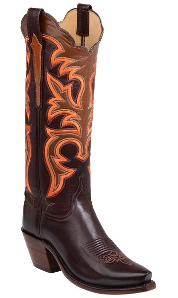 Lucchese SLOAN GY4520.S52F Womens Chocolate Ranch Hand Calfskin Boots