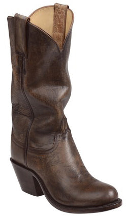 Lucchese GY4521.S82F BRITTON Womens Pearl Bone Mad Dog Goat Boots Size 7.5 C STALL STOCK