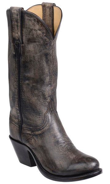 Lucchese BRITTON GY4523.S82F Womens Anthracite Grey Mad Dog Goat Boots