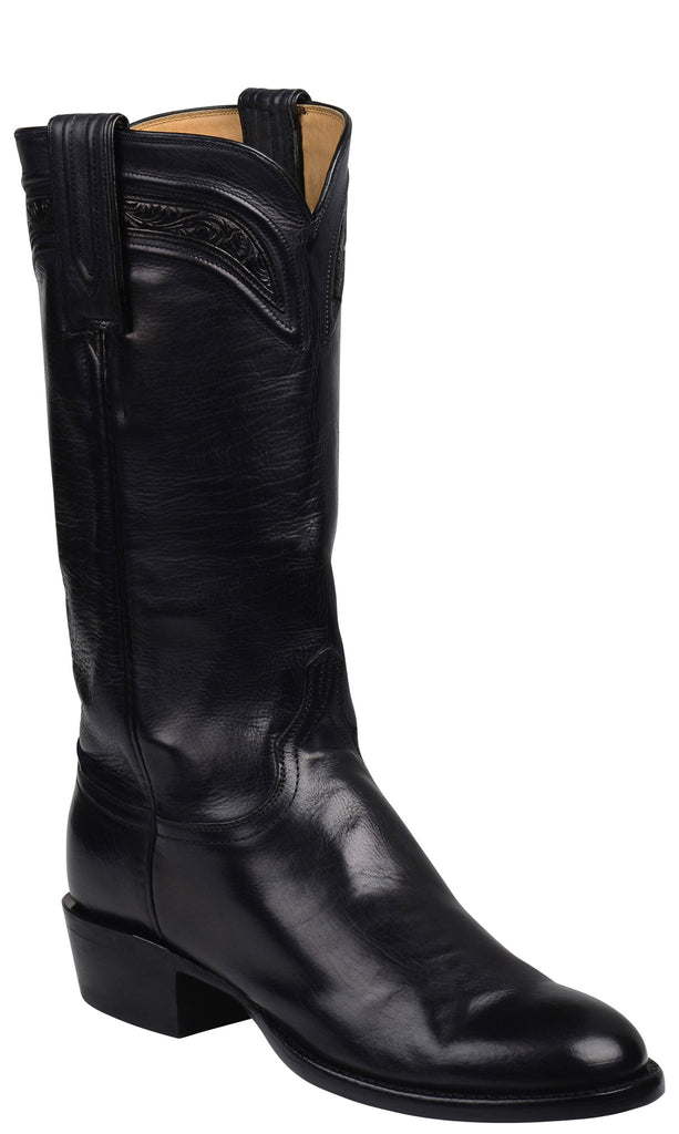 Lucchese GY4525 BLISS Womens Black Royal Calfskin Boots