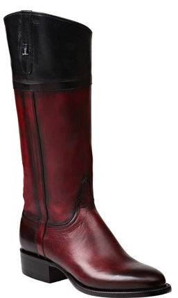 Lucchese RILEY GY4526 Womens Black Cherry Royal Calfskin Boots