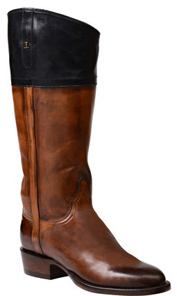Lucchese Riley GY4527 Womens Dark Brown Royal Calfskin Boots