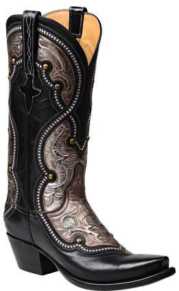 Lucchese Averill GY4533.S54 Womens Black Buffalo Boots