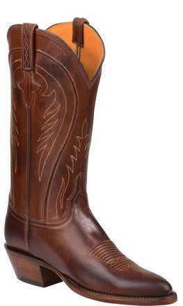 Lucchese Summer GY4547.24 Womens Tan Burnished Ranch Hand Calfskin Boots