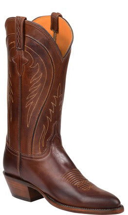 Lucchese Summer GY4547 Womens Tan Ranch Hand Calfskin Boots