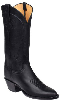 Lucchese GY4563 SUMMER Womens Black Burnished Ranch Hand Calfskin Boots