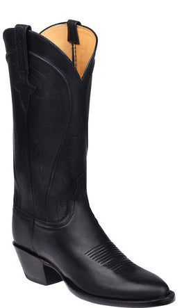 Lucchese Summer GY4563 Womens Black Burnished Ranch Hand Calfskin Boots