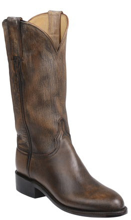 Lucchese Blair GY5500 Womens Pearl Bone Mad Dog Goat Boots
