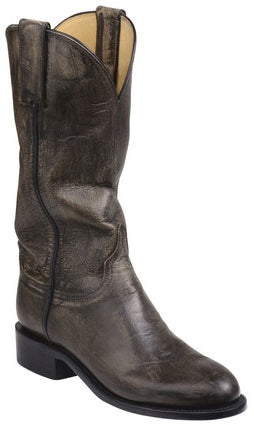 Lucchese BLAIR GY5502.RR Womens Anthracite Grey Mad Dog Goat Boots Size 8 B STALL STOCK