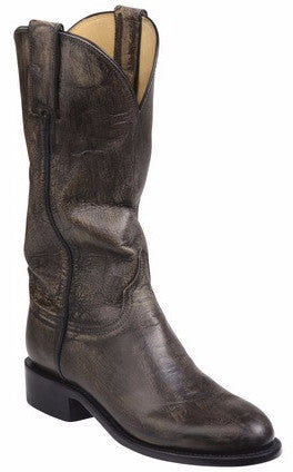 Lucchese GY5502 BLAIR Womens Anthracite Grey Mad Dog Goat Boots
