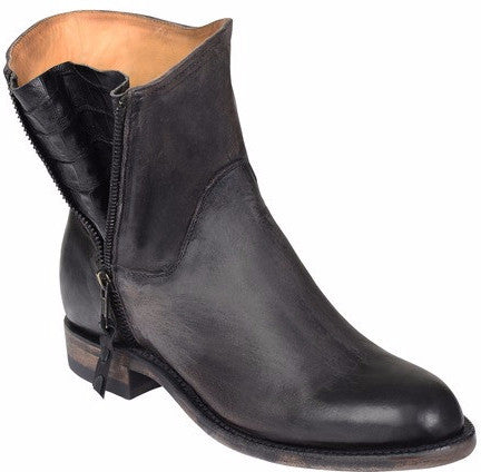 Lucchese GY6200 HARPER Womens Stonewash Black Cowhide Boots