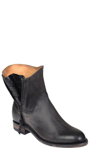 Lucchese HARPER GY6200 Womens Stonewashed Black Cowhide Boots Size 9.5 B STALL STOCK