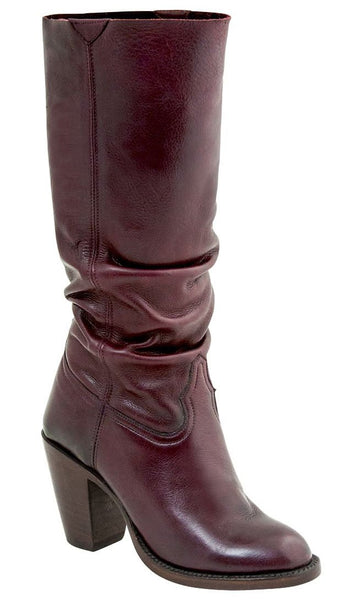 Lucchese Serena GY6209 Womens Burgundy Cowhide Boots