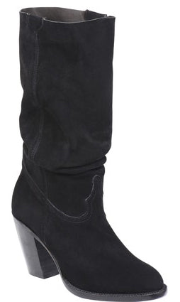 Lucchese SERENA GY6210 Womens Black Suede Boots