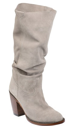 Lucchese SERENA GY6211 Womens Grey Suede Boots