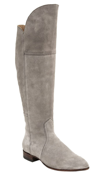 Lucchese Corinne GY6222 Womens Light Grey Suede Boots