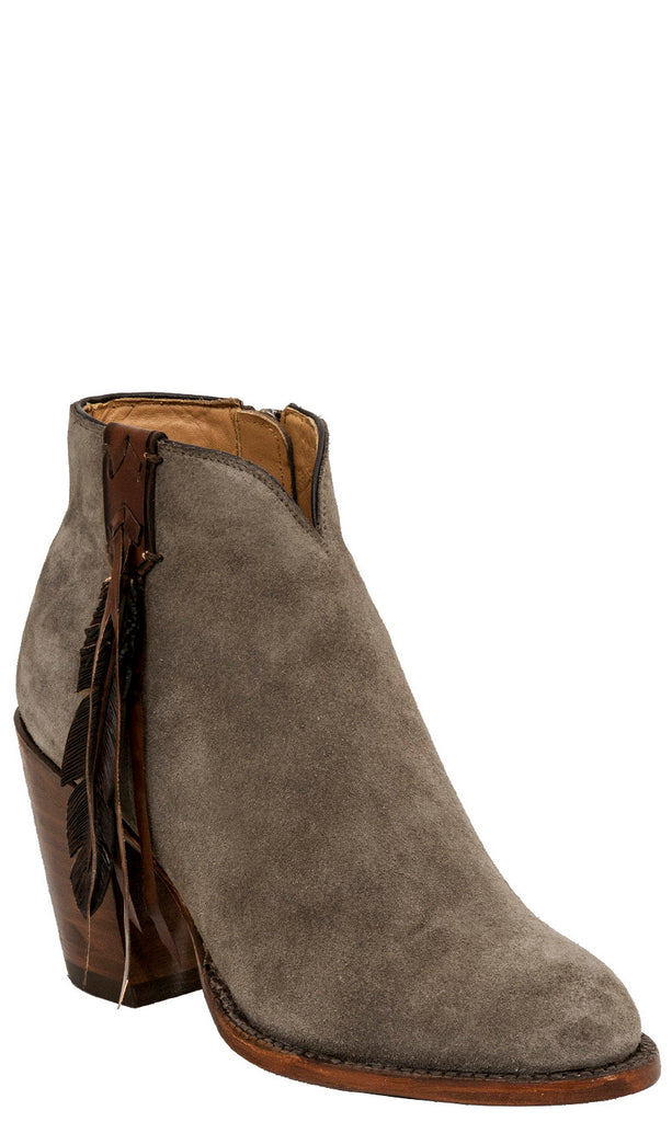 Lucchese CARLY GY7512 Womens Putty Suede Boots