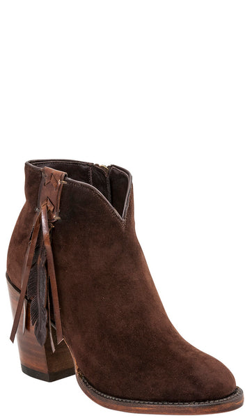 Lucchese CARLY GY7513 Womens Chocolate Suede Boots