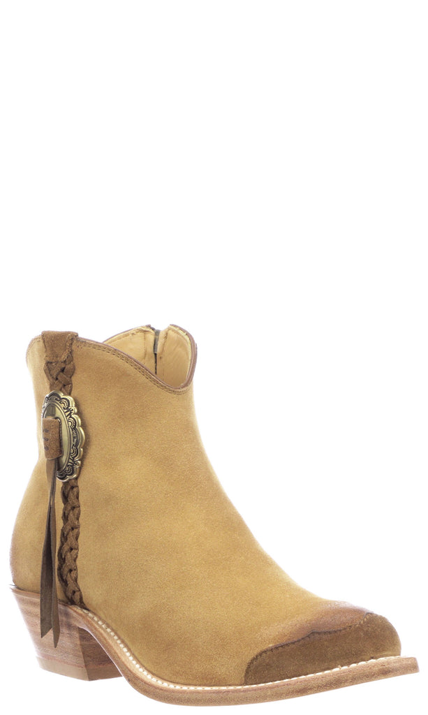 Lucchese Isabel GY7527 Womens Butterscotch Suede Boots