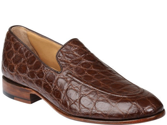 Lucchese GY8014 REED Mens Chocolate Giant Alligator Shoes