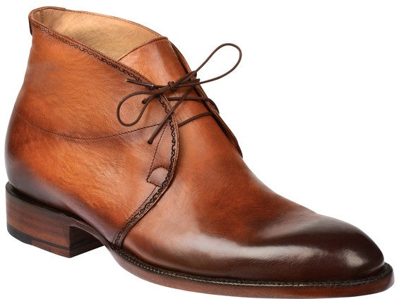 Lucchese GY8505 EVAN Mens Light Brown Royal Calfskin Chukka Boots