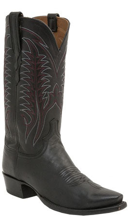 Lucchese BURNET H1507 Black Burnished Mad Dog Goat Mens Boots