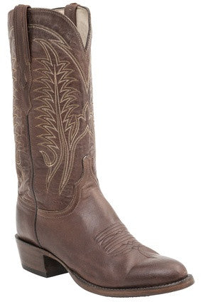 Lucchese H1508 BURNET Mens Tan Burnished Ranch Hand Calfskin Boots