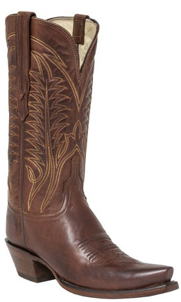 Lucchese H4506 WINNIE Womens Tan Burnished Ranch Hand Calfskin Boots