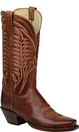 Lucchese WINNIE H4508 Womens Cognac Burnished Ranch Hand Calfskin Boots