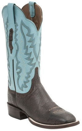 Lucchese HL5500.W8 Susana Womens Chocolate Burnished Old English Goat Boots