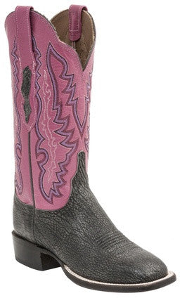 Lucchese HL5502.W8 Susana Womens Anthracite Burnished Old English Goat Boots