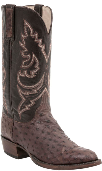 Lucchese BRYAN HL1000.73 Mens Sienna Full Quill Ostrich Boots
