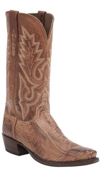 Lucchese ANSON HL1007.74 Mens Barnwood Burnished Ostrich Leg Boots