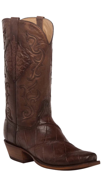 Lucchese ACE HL1031.R3 Mens Antique Chocolate American Giant Alligator Boots